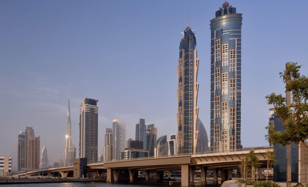 Dubai downtown luxury hotel exterior