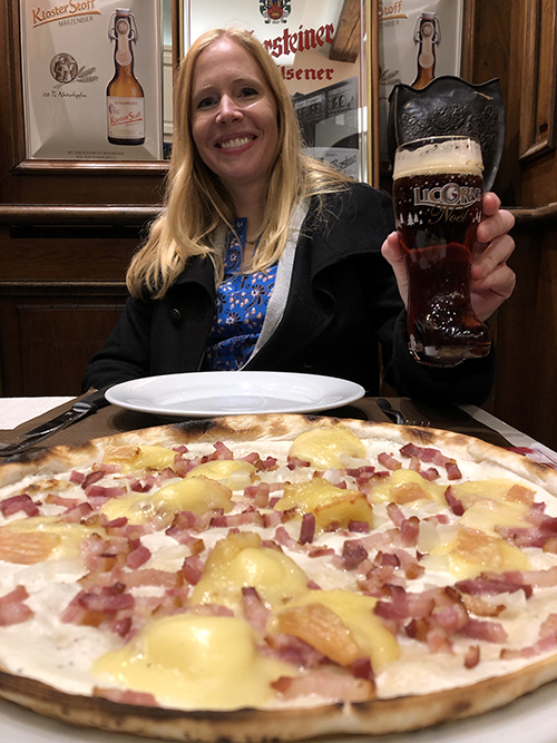 Fabulous flammekuechen pizza in Strasbourg