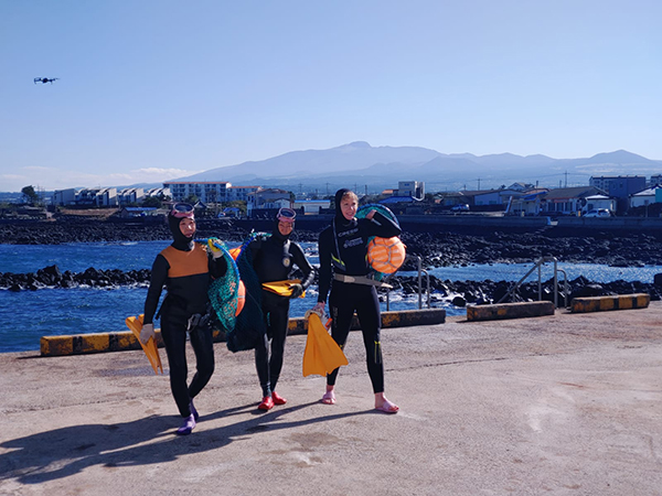 Diving with the Haenyeo on Jeju Island