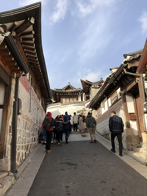 Traditional architecture at Bukchon Hanok Village