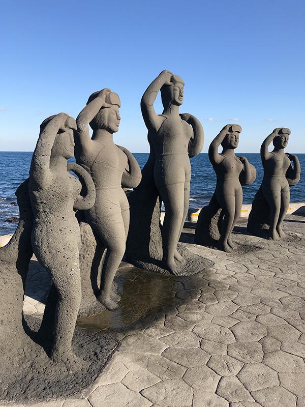 Statue of the Haenyeo on Jeju Island