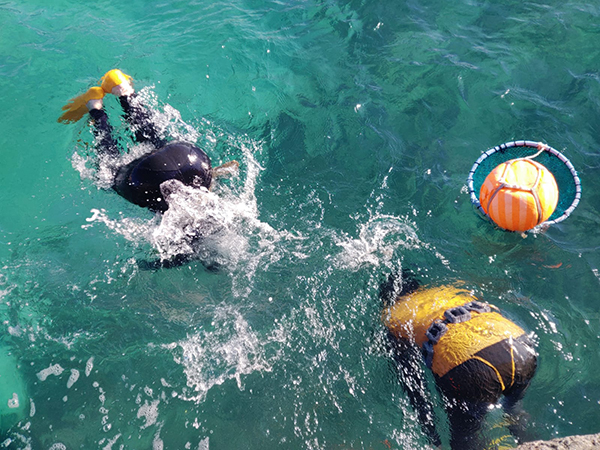The Haenyeo diving on Jeju Island