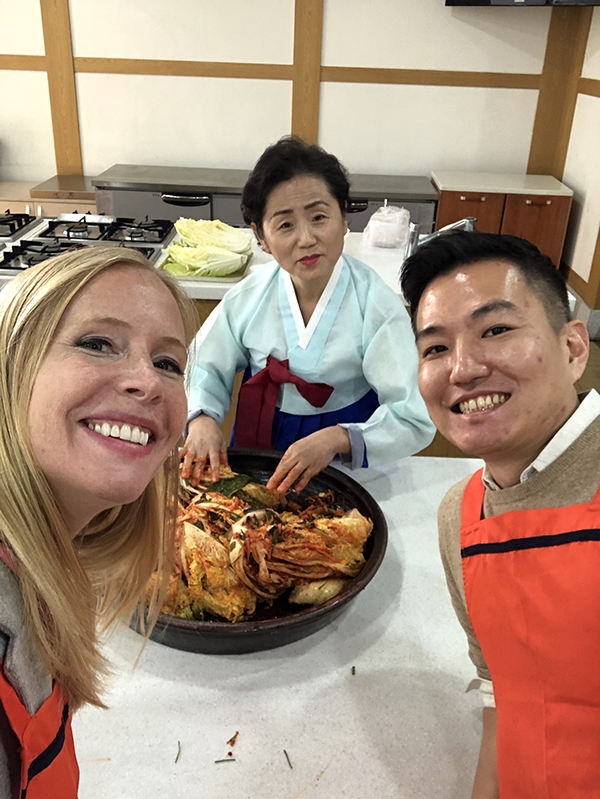 Learning to make kimchi in Seoul