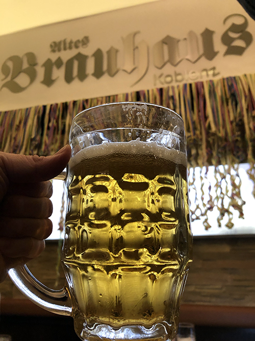 Definitely try the local beer at a Brauhaus in Koblenz