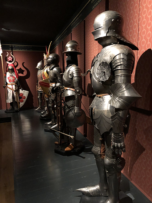 The armory in Marksburg Castle in Germany