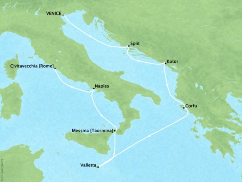 Regent Mediterranean Cruise Itinerary