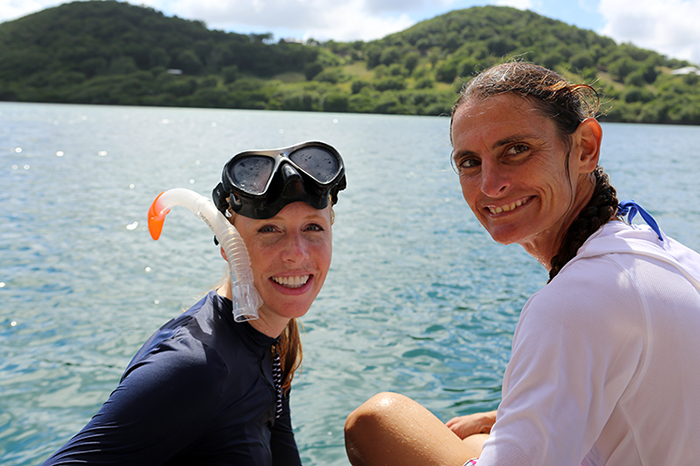 Darley goes snorkeling in Martinique