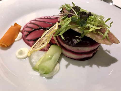 Healthy appetizer on the Rhine River Cruise on board the ship