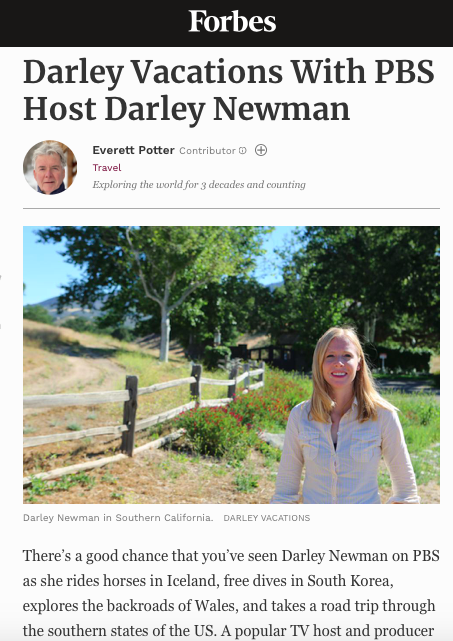 The new Darley Vacations is Featured in Forbes