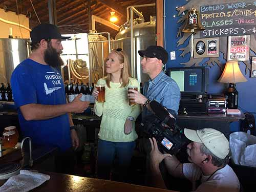 Darley meets Bryan Brushmiller, owner of Burley Oak Brewing Company.