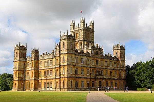 Highclere Castle, the setting for Downton Abbey on PBS