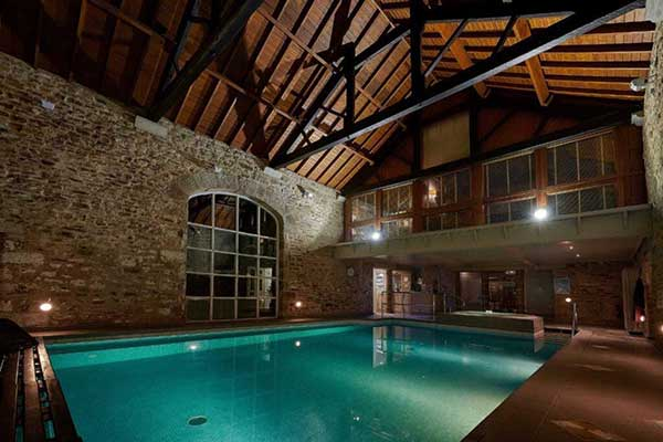 The indoor pool at the Devonshire Arms Hotel