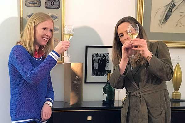 Champagne tasting with Vitalie Taittinger.
