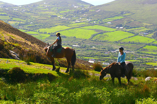 Riding along Ireland's Ring of Kerry.