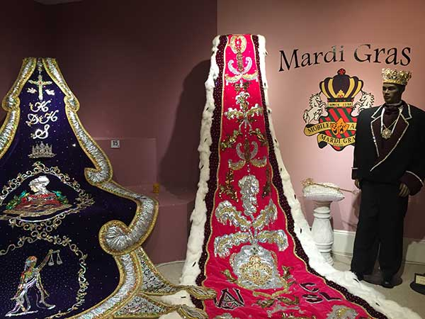 The Mobile Mardis Gras Museum is housed in the historic Bernstein-Bush mansion on Government Street.