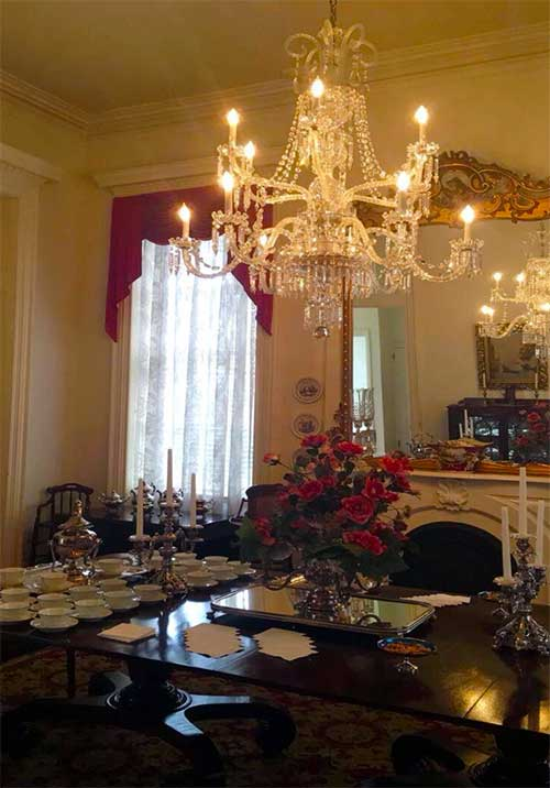 The dining room of the Richards DAR House. Photo credit: Trinity Walker.