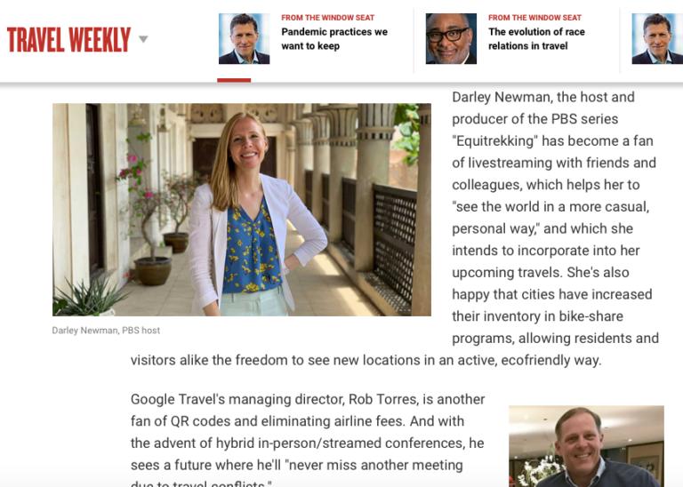 Darley Newman on Travel Weekly 05-05-21