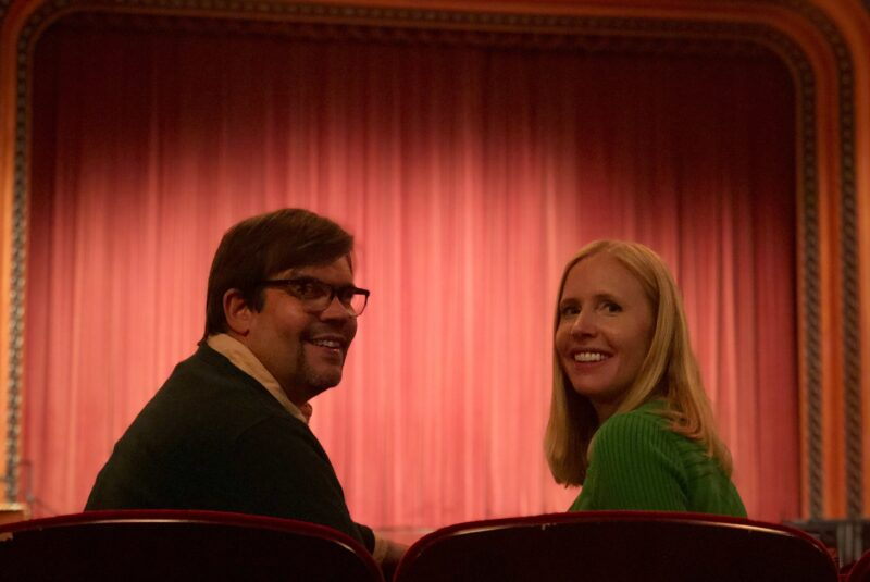 Screening a movie in the art deco theatre