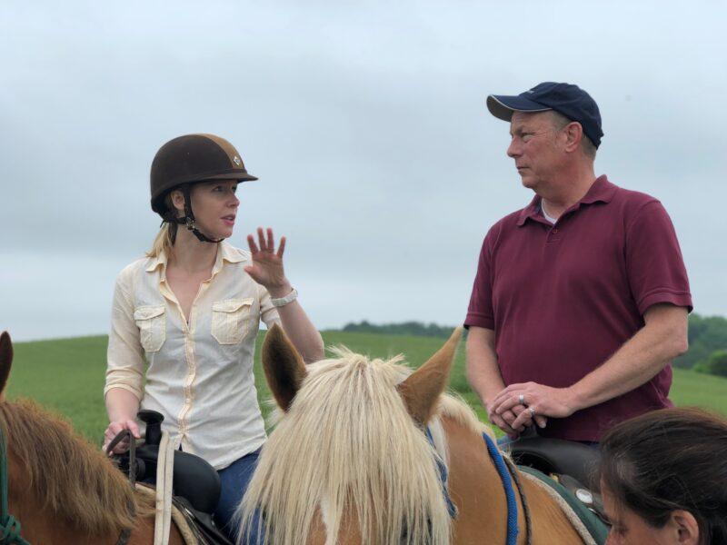Horseback riding at Brandy Station Battlefield