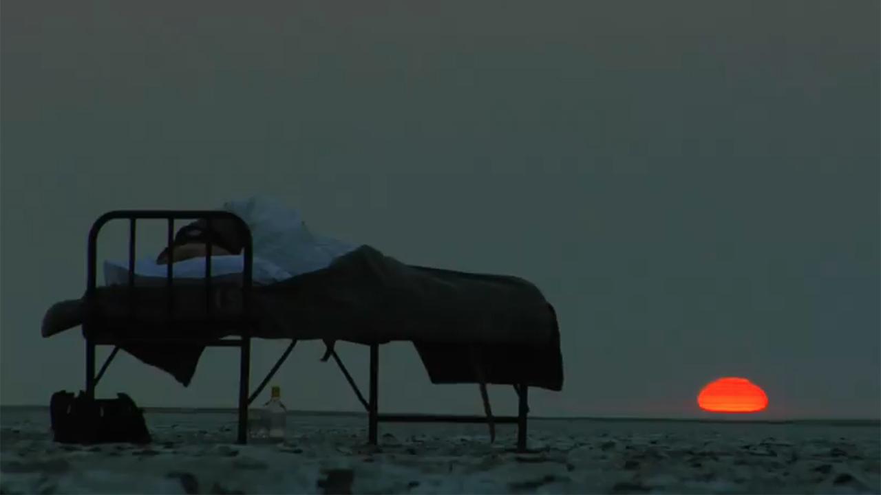Sleeping on the moon-like terrain of the salt pans