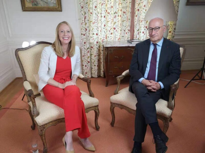 Darley Interviews the French Ambassador