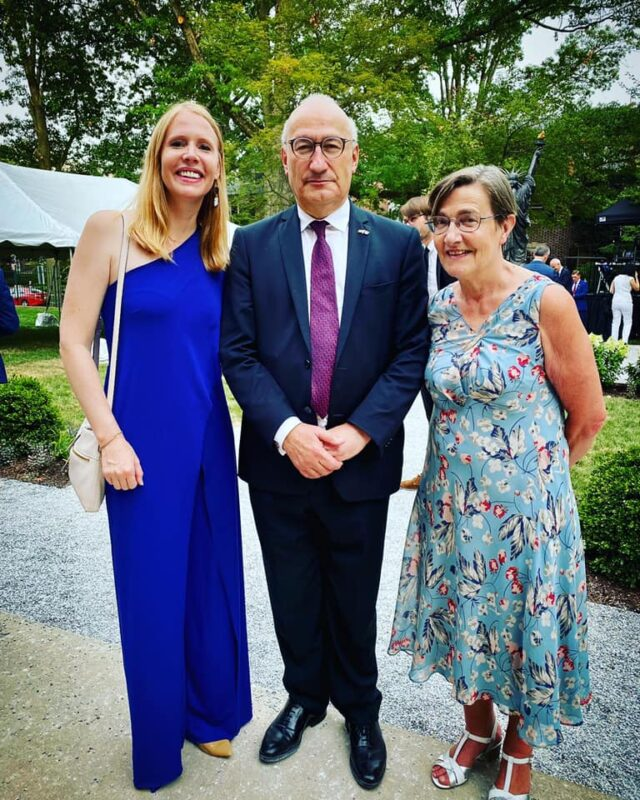 With Ambassador Philippe Etienne and his wife