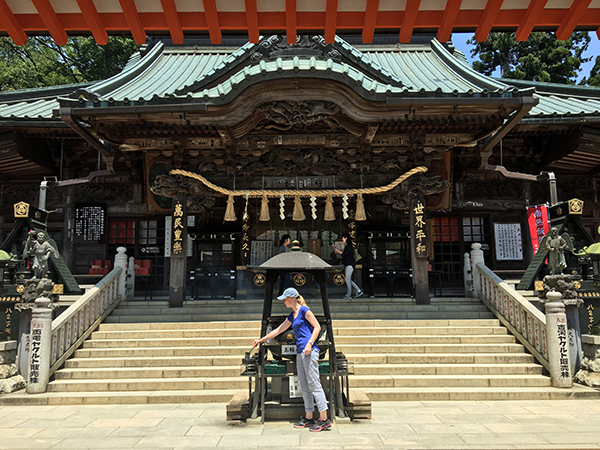 Outside of Tokyo, hike to the Buddhist Temple, Yakuo-in Temple, on Mount Takao.